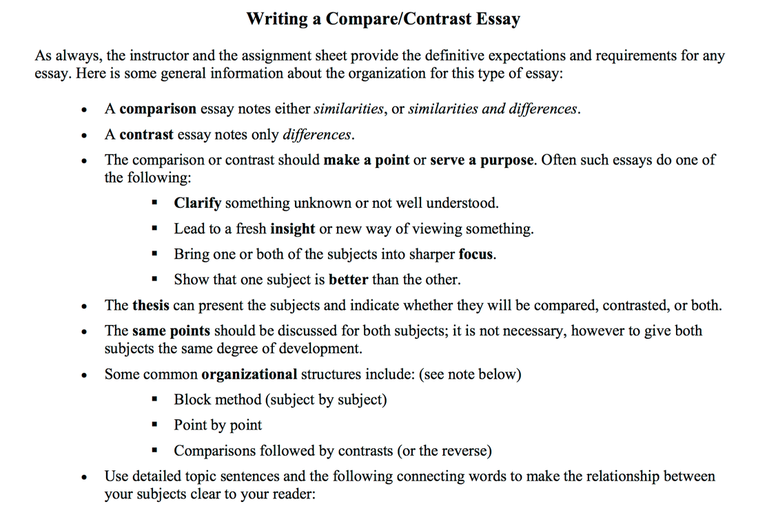 picture - Comparison Essay Thesis Example